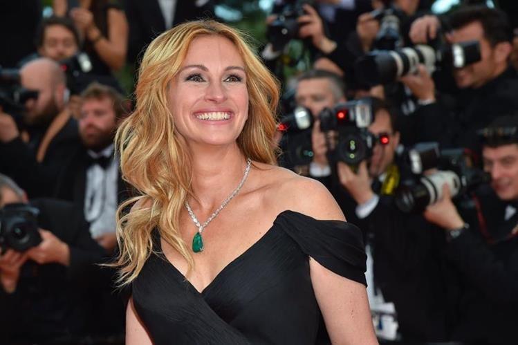 """Julia Roberts llegó a Cannes para presentar """"Money Monster"""", la película que protagoniza junto a George Clooney."""