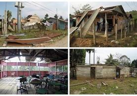 Vientos fuertes dañaron viviendas y escuelas en Fray Bartolomé de las Casas, Alta Verapaz. Unas 150 familias fueron afectadas. (Foto Prensa Libre: Eduardo Sam Chun)