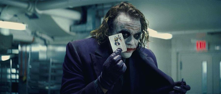 El papel del fallecido Heath Ledger como el Joker (Guasón) en The Dark Knight es uno de los puntos fuertes de este filme de Christopher Nolan (Foto: Hemeroteca PL).