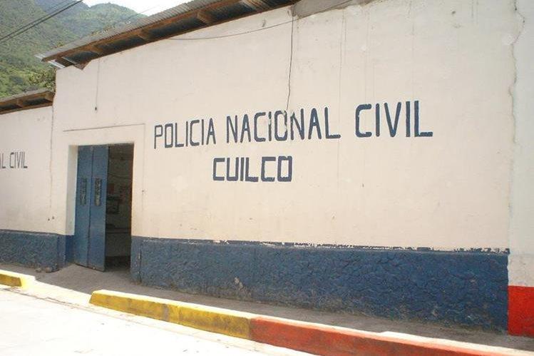 Subestación de la PNC de Cuilco, donde están asignados los agentes afectados. (Foto Prensa Libre: Mike Castillo).