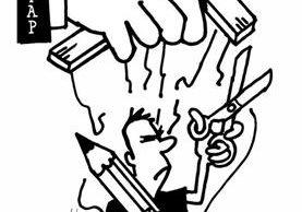 <em>Caricaturistas panameños repudian ley de periodismo que viola derechos humanos.</em>