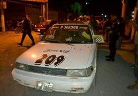 En los últimos días se han registrado varios ataques armados contra taxistas, en Puerto Barrios y Santo Tomás de Castilla, Izabal. (Foto Prensa Libre: Dony Stewart)