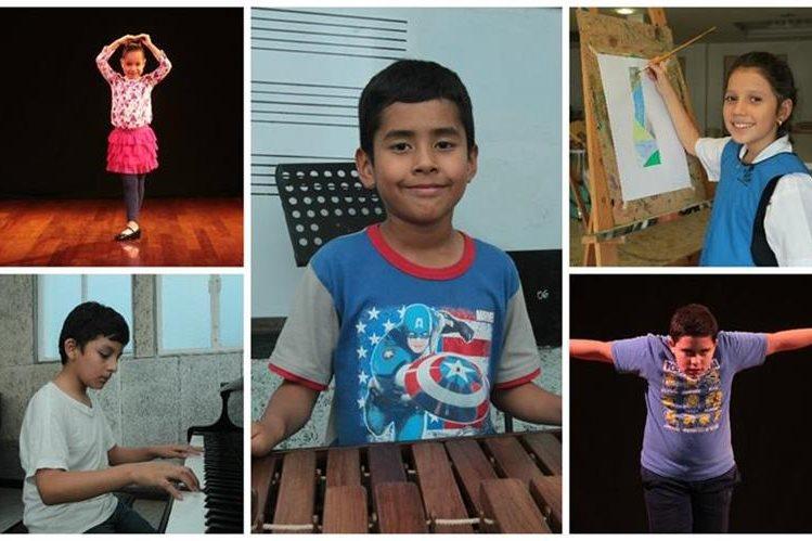 El talento de estos niños impresiona. (Foto Prensa Libre: Ángel Elías)