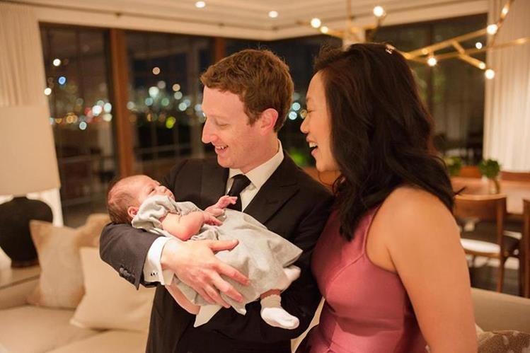 Mark Zuckerberg y Priscilla Chan están a la espera de su senguda hija. (Foto Prensa Libre: Facebook)