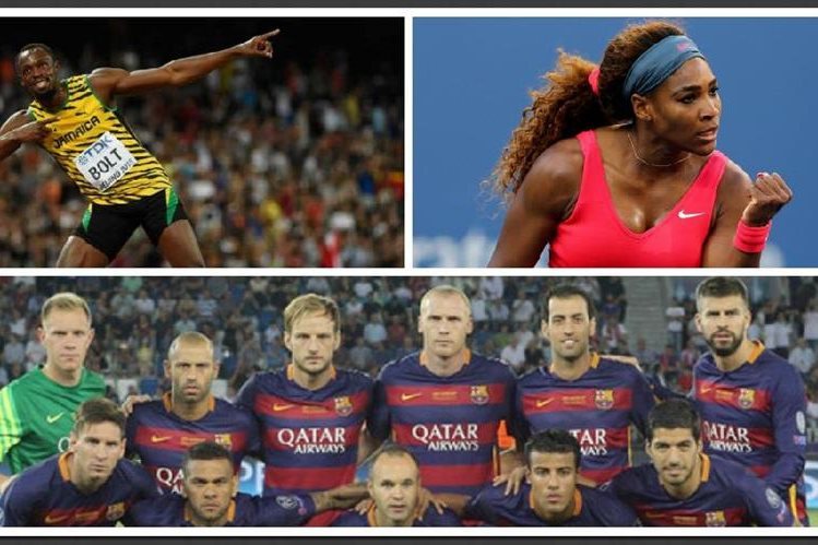 Bolt, Serena y el FC Barcelona fueron los mejores del año para la Asociación Internacional de la Prensa Deportiva. (Foto Prensa Libre: Archivo)