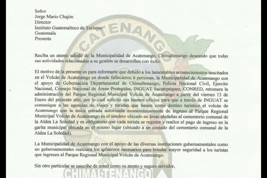 Muni de acatenango cobrar por ascenso al volc n - Requisitos para construir una casa ...