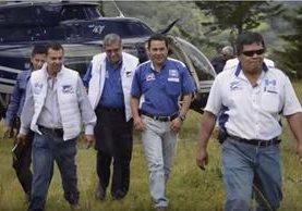 Jimmy Morales, durante su campaña, utilizó una aeronave inmovilizada esta semana por la Fiscalía. (Foto: Internet)