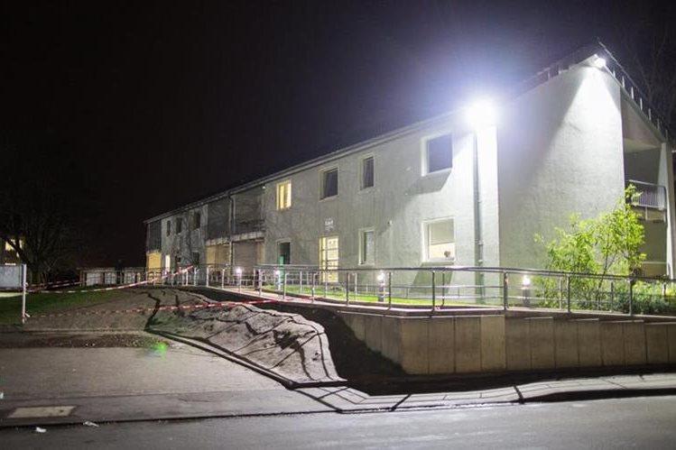 Imagen referencial. Vista general de un albergue para refugiados en Unna, Alemania. (Foto Prensa Libre: EFE).