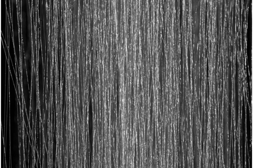 Fibras de la seda de araña artificial colocada en un marco. (Foto Prensa Libre, tomada de Phys.org) Artficial spider silk fibers rolled up on a frame. Credit: Marlene Andersson