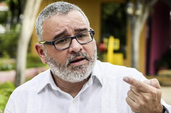 El expresidente Maurio Funes, durante una entrevista con un medio.