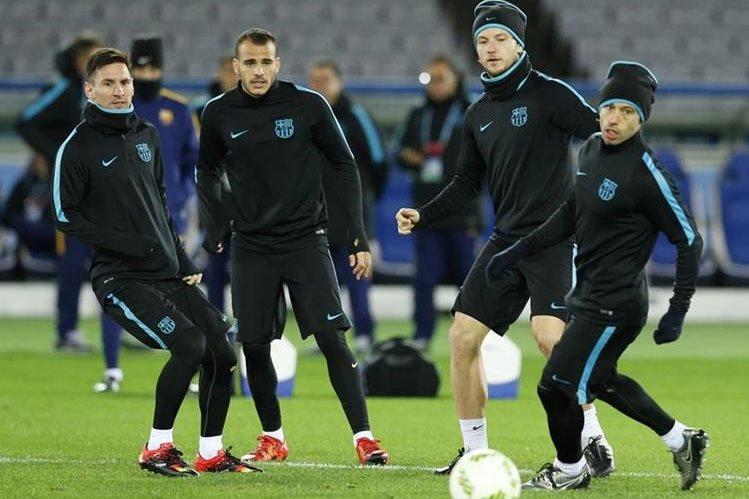 """El Barcelona, de la mano de Messi, buscará el título en el """"mundialito"""". (Foto Prensa Libre:EFE)"""