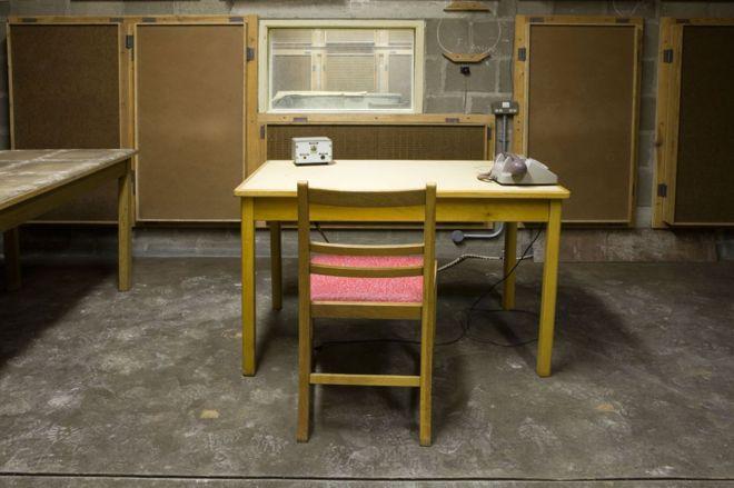 Un estudio de la BBC en el búnker antinuclear de Corsham, Reino Unido. (ALAMY)