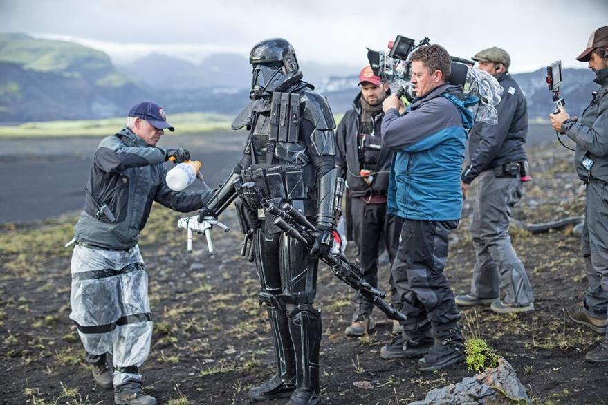 Imagen del rodaje de Rogue One: A Star Wars Story que llegará a finales de año.