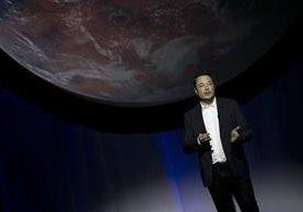 El magnate e inventor Elon Musk, durante la presentación de su proyecto para colonizar Marte, la cual se llevó a cabo en Guadalajara, México. (Foto Prensa Libre: AP).