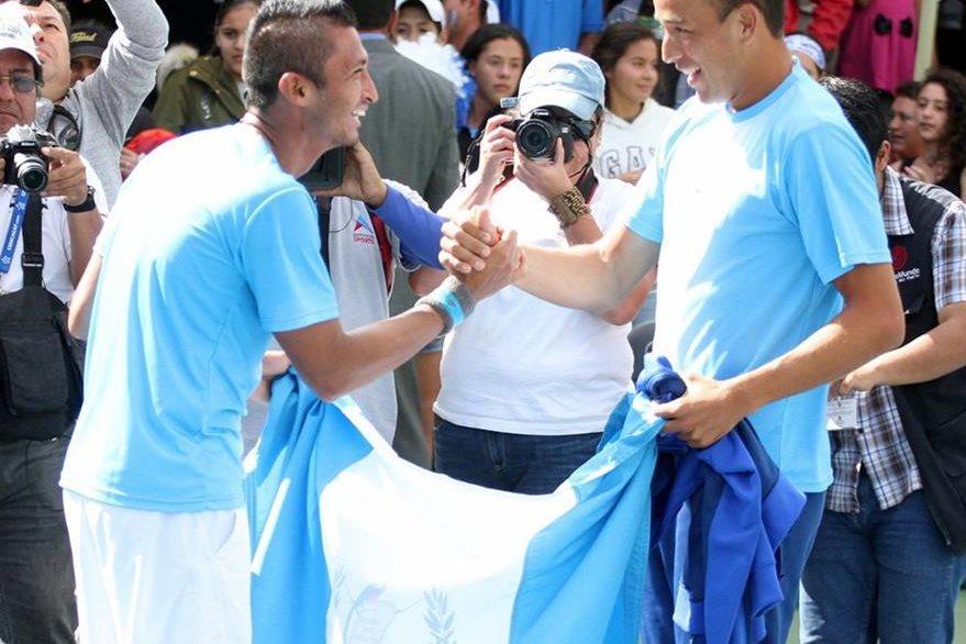 El jugar por Guatemala es la principal motivación de los tenistas. (Foto Prensa Libre: COG)