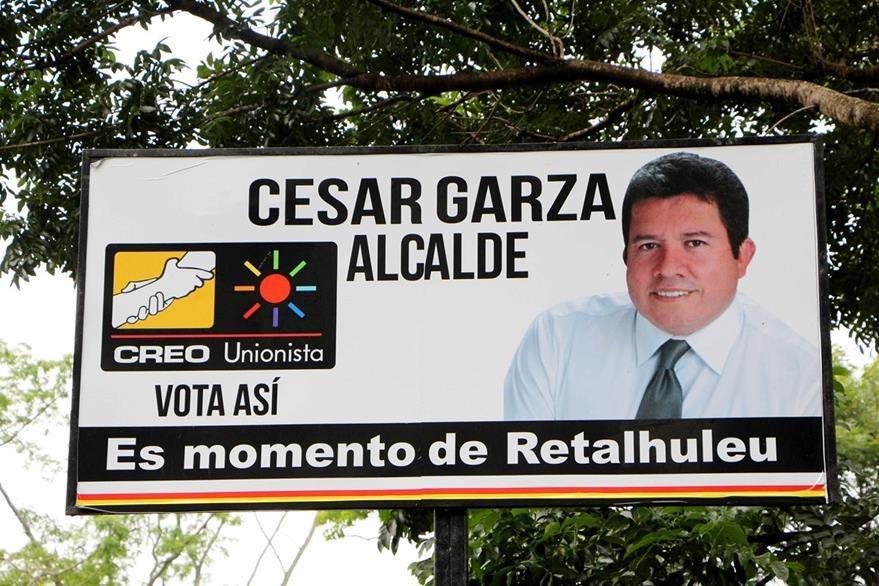 Cesar Augusto López Garza es candidato a la Alcaldía de Retalhuleu por la coalición Creo-Unionista. (Foto Prensa Libre: Rolando Miranda)