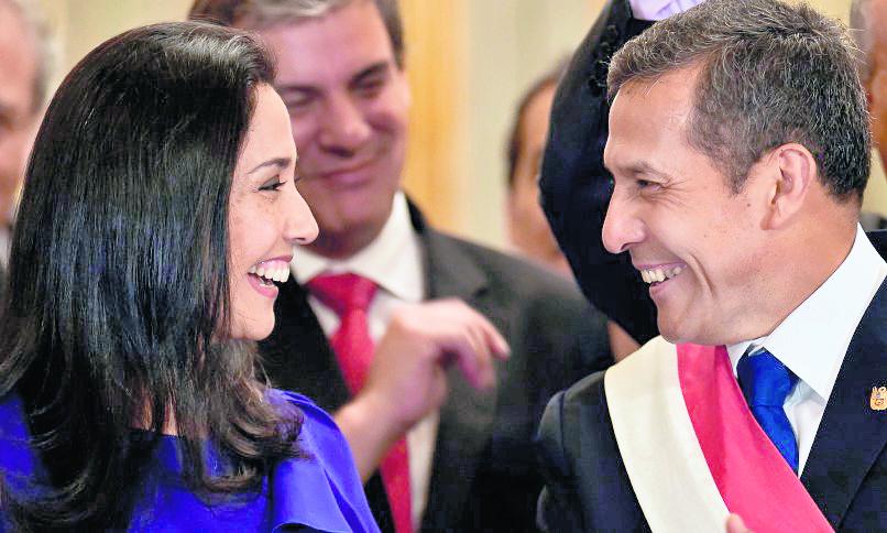 La primera dama de Perú, Nadine Heredia, junto al presidente, Ollanta Humala. (Foto Hemeroteca PL).