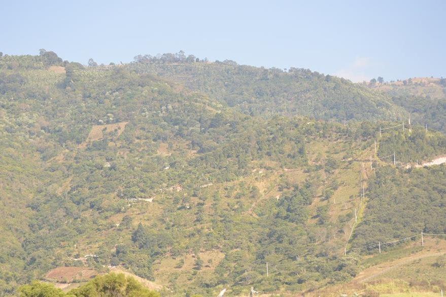 Varias viviendas que están construidas en las faldas del cerro, corren el riesgo de colapsar. (Foto Prensa Libre: Oswaldo Cardona)