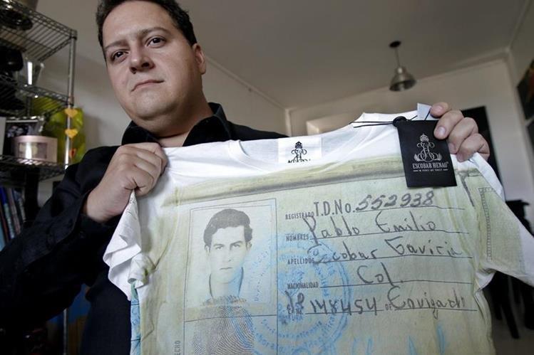 Juan Pablo Escobar, hijo del fallecido capo colombiano, Pablo Escobar, tiene una empresa que fabrica camisetas sobre Pablo Escobar. (Foto Hemeroteca PL).
