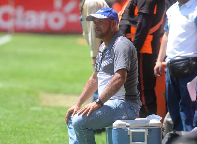 Wálter Claverí, técnico de Suchi, confía en salir del mal momento que vive su equipo en el Clausura. (Foto Prensa Libre: Edwin Fajardo).