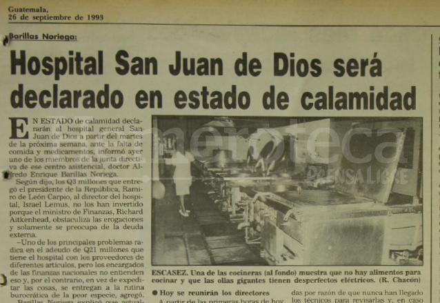 Nota de Prensa Libre del 26 de septiembre de 1993. (Foto: Hemeroteca PL)