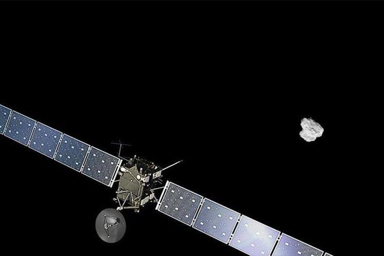 Esta fotografía muestra la receración de la aproximación de Rosetta al cometa 67P/Churyumov-Gerasimenko. (Foto Prensa Libre: EFE).