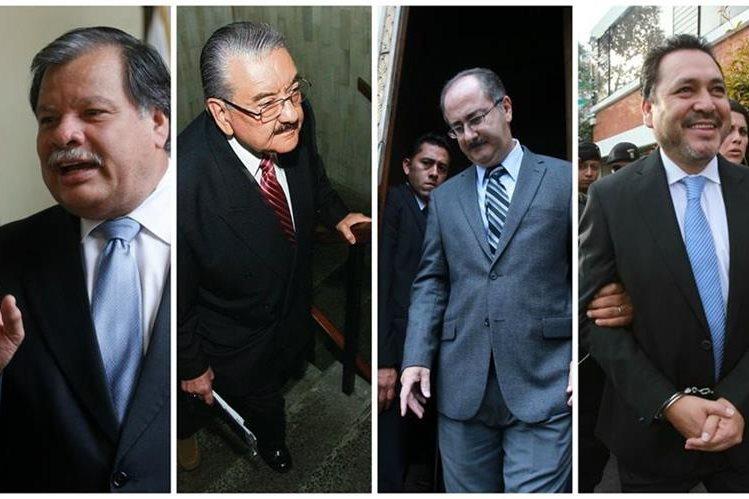 Expresidentes del Congreso que dejaron su carrera política por escándalos de corrupción y tráfico de influencias. (Foto Prensa Libre: Hemeroteca PL)