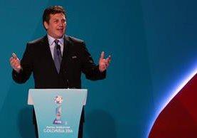 Alejandro Domínguez anunció la sede de la próxima Copa América. (Foto Prensa Libre: EFE)