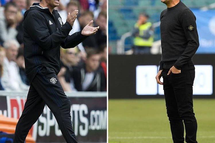 Los duelos entre Mourinho y Guardiola serán de los más esperados en la Premier League. (Foto Prensa Libre: AFP)