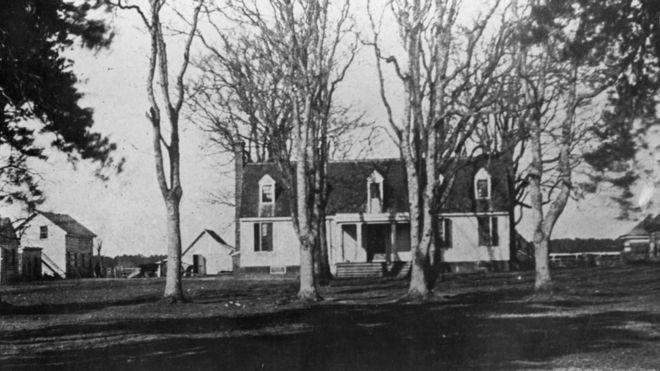 John Tyler nació en esta casa en la localidad de Greenway, en el estado de Virgina, en 1790. GETTY IMAGES