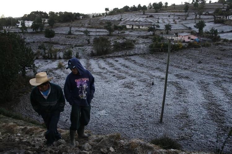 Las condiciones del clima por el nuevo frente frío serán propicias para las granizadas en las zonas más altas del país. (Foto Prensa Libre: Hemeroteca PL)