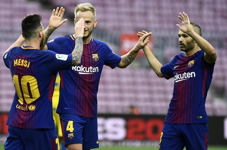 El Barcelona es el líder invicto de la Liga española. (Foto Prensa Libre: AFP)