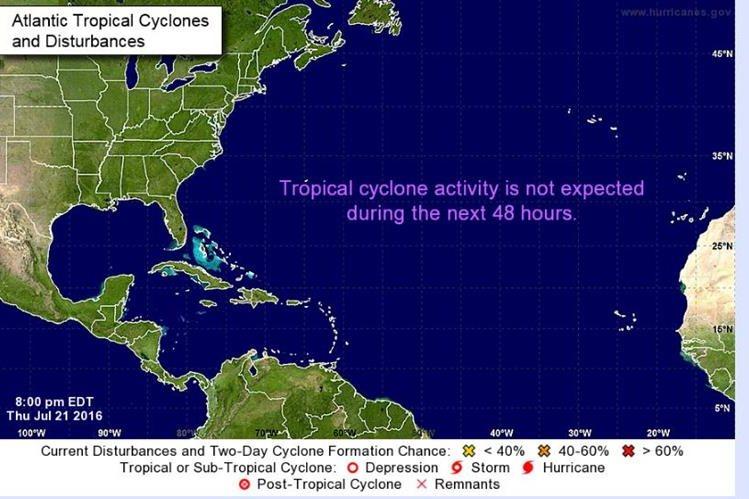 """La tormenta tropical """"Frank"""" se forma en el Pacífico frente a México. (Foto tomada del sitio: www.nhc.noaa.gov)."""