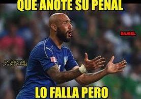 Zaza tuvo en sus manos una eventual clasificación de Italia a las semifinales. (Foto Prensa Libre: Redes Sociales)
