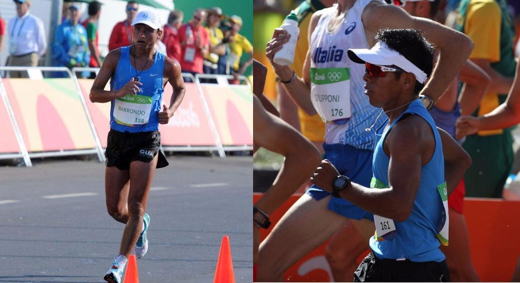 Erick Barrondo y José Raymundo durante la competencia en Río de Janeiro. (Foto Prensa Libre: Jeniffer Gómez)