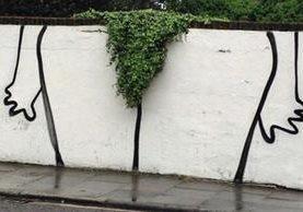 Un graffiti en Londres con un toque muy singular