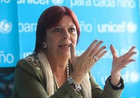 María Cristina Perceval, directora regional de Unicef para América Latina y el Caribe. (Foto Prensa Libre: Alvaro Interiano)