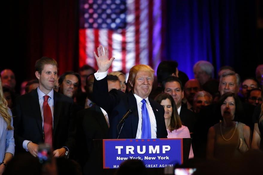 El magnate inmobiliario, Donald Trump, ya se hace ganador de la nominación republicana. (Foto Prensa Libre: AFP).