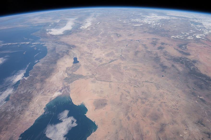 Imagen del desierto de Sonora-Arizona, vista desde la Estación Espacial Internacional. (Foto: Wikipedia).