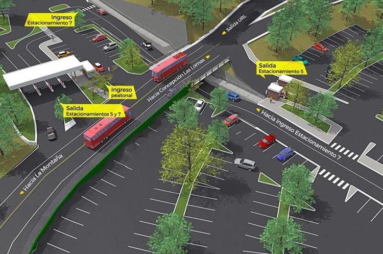 Con el funcionamiento del viaducto se evitarán accidentes de tránsito debido a que las salidas son seguras. (Foto Prensa Libre: Carlos Hernández)