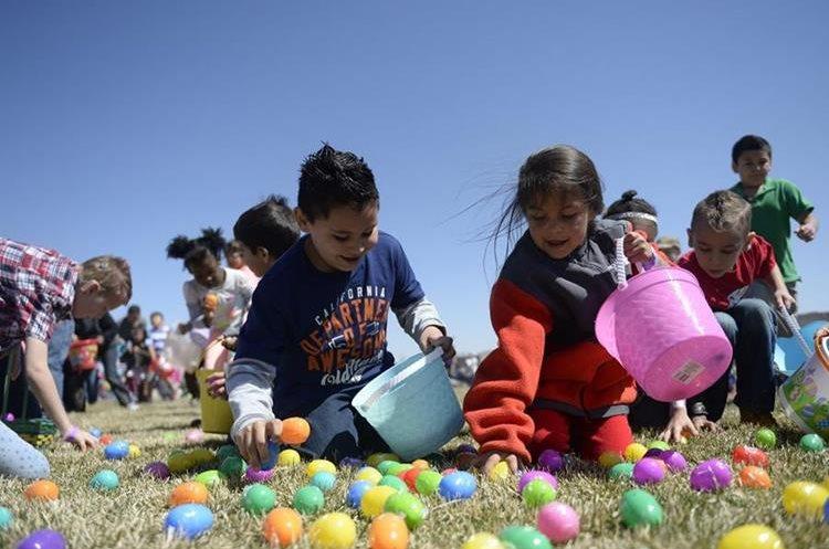 Las búsquedas de huevos de pascua son populares alrededor del mundo y la práctica se ha ido adoptando en Guatemala. (Foto Prensa Libre: Brent Lewis/The Denver Post).