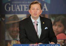 Heinz Heimann, vocero presidencial, asegura que el pueblo de Guatemala es un pueblo soberano y no van a aceptar instrucciones de nadie.(Foto Prensa Libre: Hemeroteca)