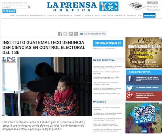 Medios de comunicación de El Salvador siguen de cerca el proceso electoral de Guatemala. (Foto Prensa Libre: Internet)