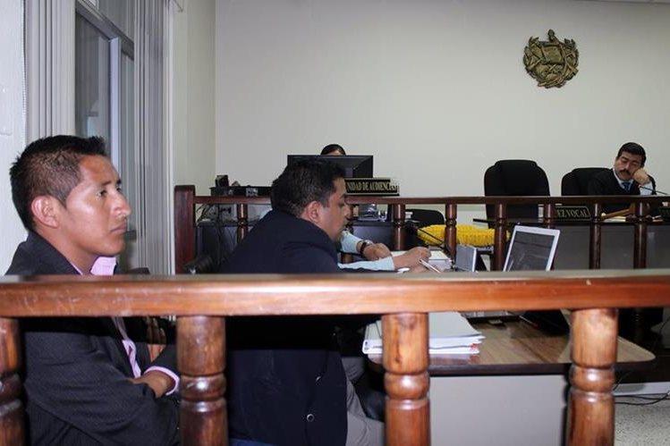 Quinta audiencia del debate oral y público contra los hermanos Diego y Antonio Itzep López. (Foto Prensa Libre: Óscar Figueroa)