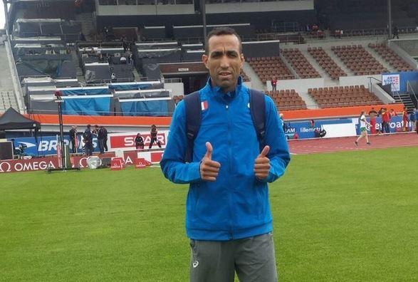 Jamel Chatbi, fue suspendido por el Comité Olímpico Italiano por no haberse presentado por tercera ocasión a un control antidopaje. (Foto Prensa Libre: Twitter Jamel Chatbi)