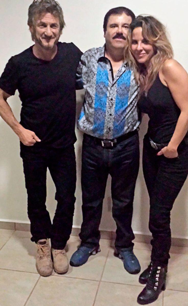En octubre del 2015, la actriz mexicana Kate del Castillo y el actor estadounidense Sean Penn se reunieron con el Chapo Guzmán, quien era prófugo de la justicia. (Foto Prensa Libre: Hemeroteca PL)