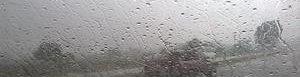 Llueve en ruta Interamericana.