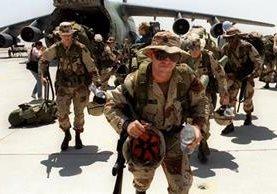 La tropa de Estados Unidos arriba a terririo iraquí en el 2014. (Foto Prensa Libre:AFP).
