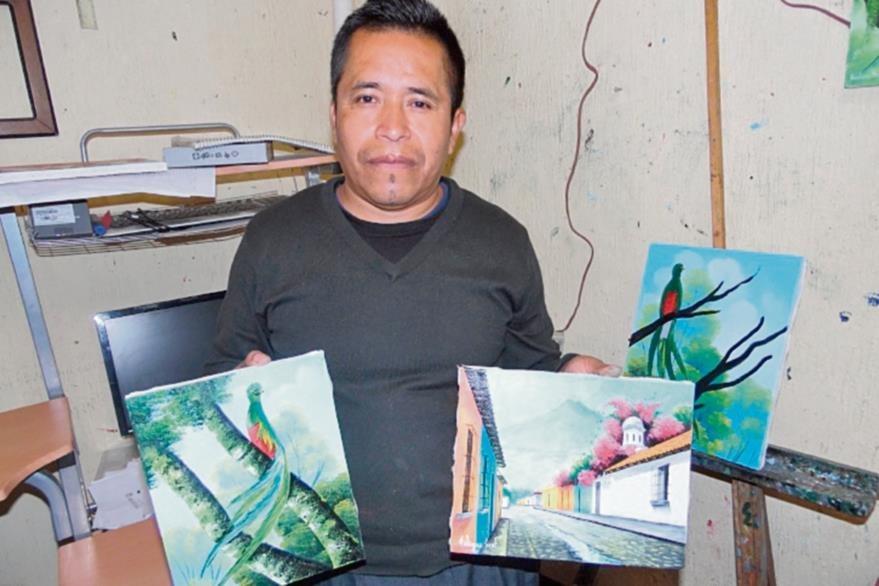 Las costumbres   de San Juan Comalapa toman color de los pinceles de Eladio Bal.