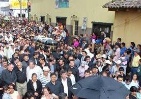 Honras fúnebres del diputado Amildo de Jesús Morales, en Jalapa. (Foto Prensa Libre: Hemeroteca PL)